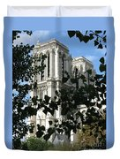 Towers Of Notre Dame Duvet Cover