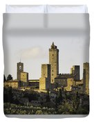 Towers Of San Gimignano Duvet Cover