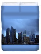 Towers Of Singapore Duvet Cover