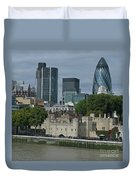 Towers Old And New Duvet Cover