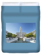 Town Hall In Porto Portugal Duvet Cover