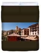 Town In The Red Sierra Duvet Cover