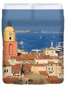 Town Of St Tropez Cote D'azur France Duvet Cover