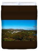 Town On A Hill With 12 Pin Mountain Duvet Cover