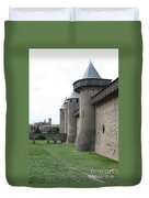 Town Wall - Carcassonne Duvet Cover