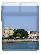 Town Wall - Rhodos City Duvet Cover