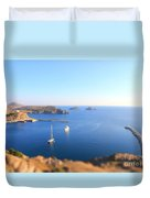 Toy Boats Duvet Cover