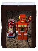 Toy Robot And Train Duvet Cover