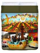 Toy Town Carousel  Duvet Cover