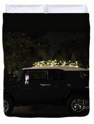 Toyota Fj Christmas Lights Duvet Cover