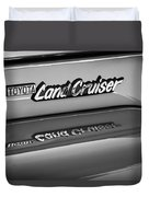 Toyota Land Cruiser Emblem -0581bw Duvet Cover