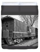 Tpw Rr Caboose Black And White Duvet Cover