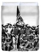 Tr And The Rough Riders Duvet Cover