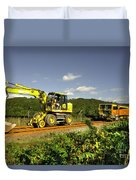 Track Machines  Duvet Cover