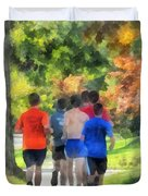 Track Practice Duvet Cover by Susan Savad