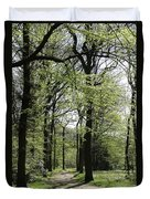 Track Trough The Woods Duvet Cover