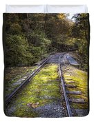 Tracks Along The River Duvet Cover