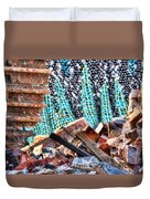 Tracks And Textures Duvet Cover