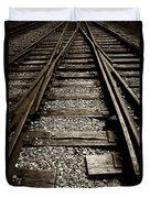 Tracks Into Tracks - 2 Duvet Cover