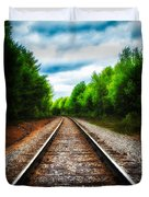 Tracks Through The Woods Duvet Cover