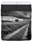 Tracks To Corgarff Castle Duvet Cover