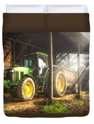 Tractor In The Morning Duvet Cover