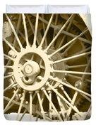 Tractor Wheel Duvet Cover