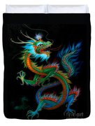 Tradition Asian Dragon Illustration 1 Duvet Cover