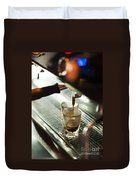 Traditional Espresso Coffee And Machine  Duvet Cover