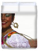 Traditional Ethnic Dancers In Chiapas Mexico Duvet Cover