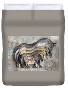 Traditional Horses Duvet Cover