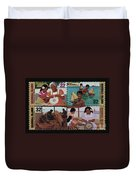 Traditional Pacific Handicrafts Postage Stamp Print Duvet Cover
