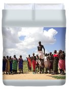 Traditional Samburu Dance Duvet Cover