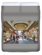 Traditional Shopping Area In Shanghai China Duvet Cover