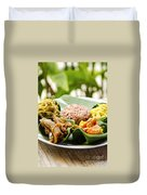 Traditional Vegetarian Curry With Rice In Bali Indonesia Duvet Cover