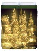Trafalgar Square Christmas Lights Duvet Cover