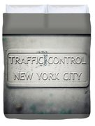 Traffic Control Duvet Cover
