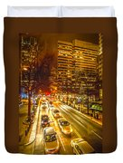 Traffic In A Big City Duvet Cover
