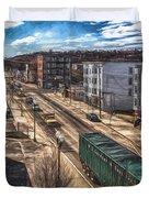Traffic On Lincoln Street Duvet Cover