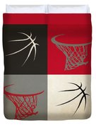 Trail Blazers Ball And Hoop Duvet Cover
