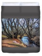 Trail By Fountain Creek Winter Duvet Cover
