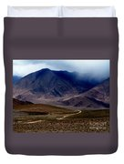Trail Down From Muztagh Ata Duvet Cover