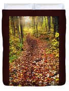 Trail In Fall Forest Duvet Cover