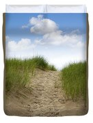 Trail Over The Dune To The Summer Beach Duvet Cover