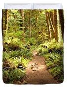 Trail Through The Rainforest Duvet Cover by Carol Groenen