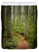 trail to Lower Lewis Falls Duvet Cover