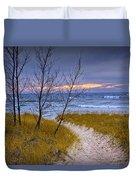 Trail To The Beach Duvet Cover