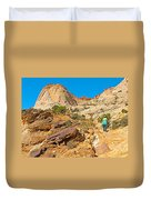 Trail Up To The Tanks From Capitol Gorge Pioneer Trail In Capitol Reef National Park-utah Duvet Cover