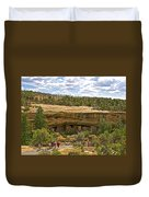 Trail View Of Spruce Tree House On Chapin Mesa In Mesa Verde National Park-colorado Duvet Cover