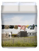 Trailers In North Rustico Duvet Cover by Elena Elisseeva